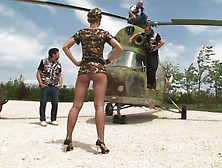 Shaved Army Slut Cumswaps A Hot Load