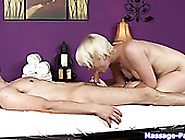 Big Breasted Blond Nymph Presents Hot Deep Throat In Massage Par