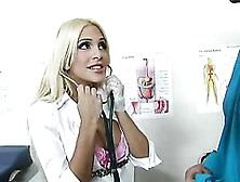 Sexy Blonde Doctor Carmel Moore Likes Big Balls And Big Dicks