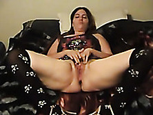 My Buddy Was Horny While Taping His Lewd Ex-Wife Masturbating On