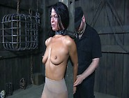 Horny Bondage Master Places Collar On His Slave's Neck