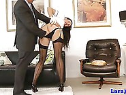 Tall Woman In Uniform Is About To Have Sex With A Wealthy Man,  I