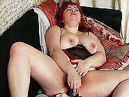 Bbw Redhead Plays With Dildo