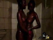 Perfect Lesbians Showering And Rubbing Pussy Together
