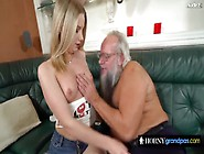 Lucky Grandpa Gets To Screw Naughty Teenager