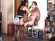 Femdom Bondage Chairtied Handjob