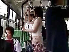 Asian Lady Is Getting Her Pussy Fingered In A Bus,  While She Is