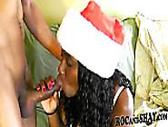 Sexy Ebony Girlfriend Christmas Fuck !!