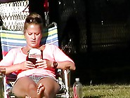 Relaxing In The Park (Crotch Shots)