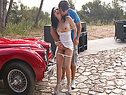 Wild Brunette Slut Angell Summers Strips Outdoors And Rides A Ma