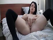 Spectacular Brunette Amateur Fingers Her Dripping Wet Cunt