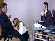 Office Cougar Knows Great Things With Her Mouth And Hands