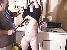 Submissive Young Chick Of My Old Buddy Gets Spanked Hard In The