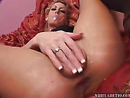 Blonde Woman In Black,  Erotic Stockings Is Getting Fucked Like A
