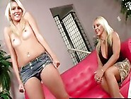 Busty Blonde Mom Teaches Her Daughter A Sexy Strip Routine
