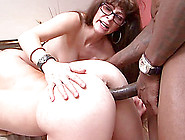 Brunette Mom And Teen In Glasses Share A Bbc In Ffm Anal Scene