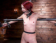 Redhead Teen With No Tits Andi Rye Abused Hardcore In Bondage