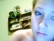 Stunning Blonde Teenager Masturbating Inside The Nice Webcam Vid
