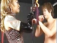 Asian Mistress Whipping A Slave Hard