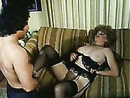 Spoiled Curly Blonde Secretary With Ugly Makeup Gives Blowjob In