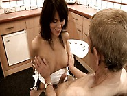 Sultry Girl Dokter Petra Lets An Old Guy Finger Fuck Her Clam In