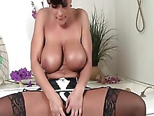 Busty Lisa Ann Toys Her Cunt With Dildo And Vibe Ring