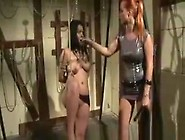 Lesbian Subject Has Her Tits Clamped And Gets Dominated In