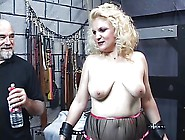 Mature Blonde Sub Gets Spanked Till Her Ass Turns Red