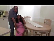 Rachel Satisfies Her White Stepfather With Her Cup Udders.