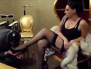 Brunette Milf In Stockings Is All Wet And Shows Her Ass