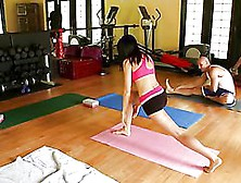 She Goes To Yoga To Get A Hardcore Treatment From Her Big Dick T