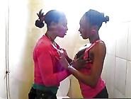 African Lesbian Amateurs Pussy Licking Bathroom