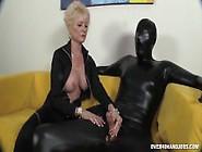 Granny Dominates Her Slave