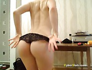Hot German Blonde Striptease With Badass Music