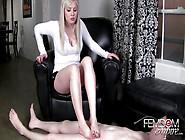 Cum Eating Slave Footjob
