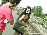 Brunette Cutie Rides Cock With Fury