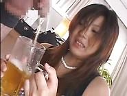 Jap Slut Drinks Mug Of Gold Piss