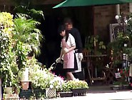 Petite Japanese Flower Shop Girl Hairy Pussy Banged