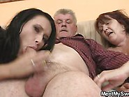 Bbw And A Hot Teen Pleasing The Old Mans Penis