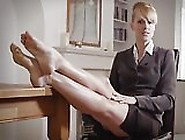 British Milf Boss Foot Tease