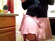 Desperate And Wetting My Pretty Pink Skirt