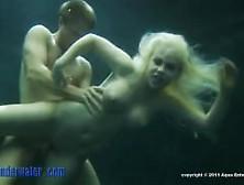Blonde Spermaid Sucks And Fucks Underwater