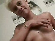 Short-Haired Blone Mature Bitch Is Happy To Be Polished