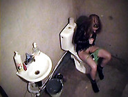 Chick Getting Her Pussy Fucked On The Bathroom Camera