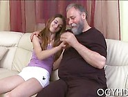 Fat Old Dude Gets His Hands On A Precious Teen Babe
