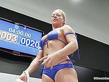 Dragon Destroyed On The Mat Made To Cum During Wrestling She Is