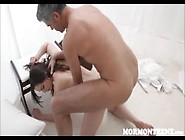 Sexy Mormon Teen Fucked By The Church President With Big Cock