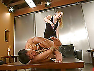 Insane Bondage For An Asian Dude By A Sexy Blond Mistress