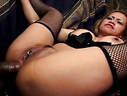 Inked Blonde Asian Tart Gets A Mouthful Of This Bulging Fuck Rod