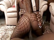 Ripping Her Fishnets Apart To Get To Some Nookie From This Ebony